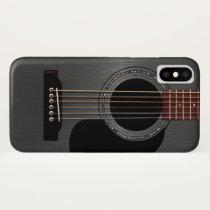 Ash Black Acoustic Guitar iPhone XS Case