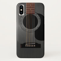 Ash Black Acoustic Guitar iPhone XS Case
