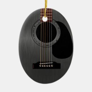 Ash Black Acoustic Guitar Ceramic Ornament