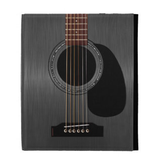 Ash Black Acoustic Guitar iPad Folio Cases