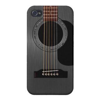 Ash Black Acoustic Guitar iPhone 4 Cover