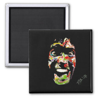 Ash Evil Dead Synesthesia Oil Painting 2 Inch Square Magnet