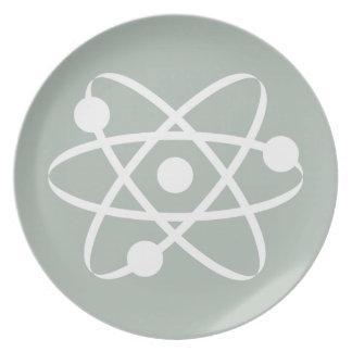 Ash Gray Atom Plates
