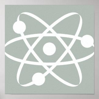Ash Gray Atom Poster