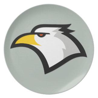 Ash Gray Bald Eagle Dinner Plate
