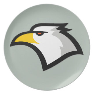 Ash Gray Bald Eagle Party Plate