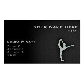 Ash Gray Ballet Dancer Business Card Templates