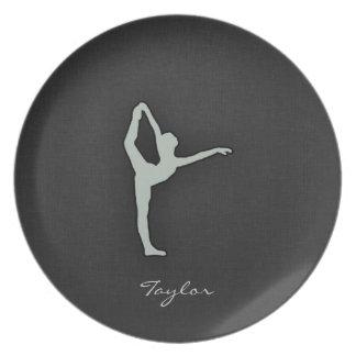 Ash Gray Ballet Dancer Plates