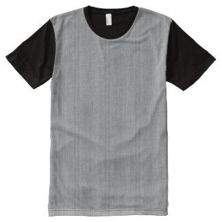 Ash Gray Bamboo Wood Grain Look All-Over-Print Shirt