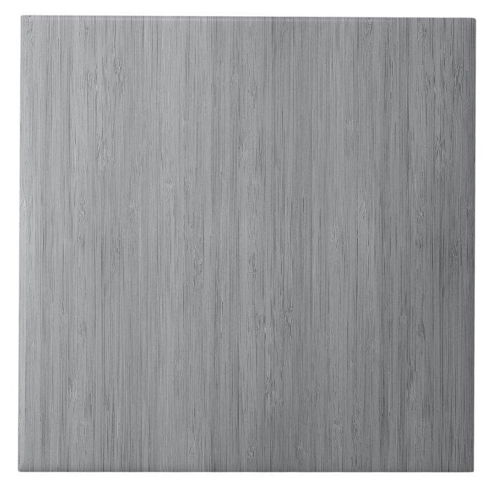Ash gray bamboo wood grain look ceramic tile zazzle