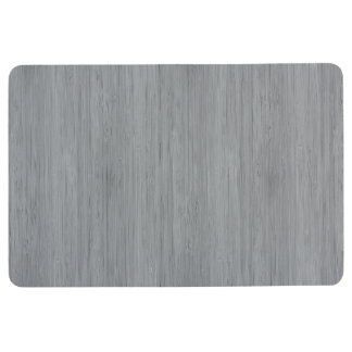 Ash Gray Bamboo Wood Grain Look Floor Mat