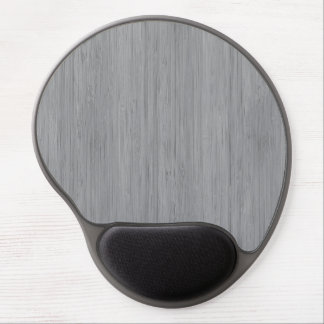 Ash Gray Bamboo Wood Grain Look Gel Mouse Pad