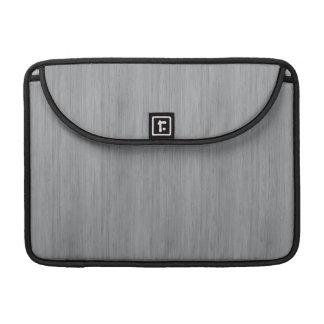 Ash Gray Bamboo Wood Grain Look MacBook Pro Sleeve
