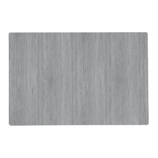 Ash Gray Bamboo Wood Grain Look Placemat
