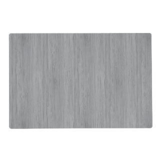 Ash Gray Bamboo Wood Grain Look Placemat