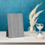 """Ash Gray Bamboo Wood Grain Look Plaque<br><div class=""""desc"""">An image of a silvery slate gray colored bamboo wood grain texture on your product.</div>"""
