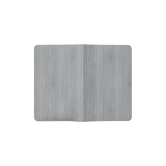 Ash Gray Bamboo Wood Grain Look Pocket Moleskine Notebook
