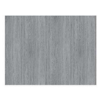 Ash Gray Bamboo Wood Grain Look Postcard