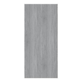 Ash Gray Bamboo Wood Grain Look Rack Card