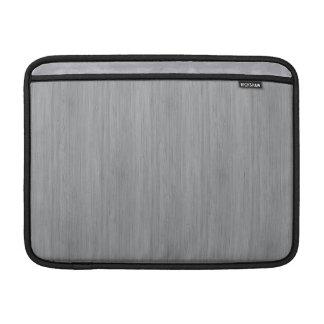 Ash Gray Bamboo Wood Grain Look Sleeve For MacBook Air