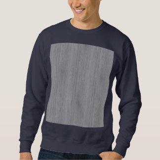 Ash Gray Bamboo Wood Grain Look Sweatshirt
