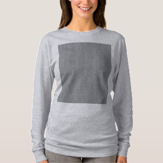 Ash Gray Bamboo Wood Grain Look T-Shirt