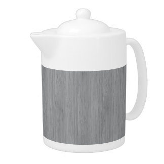Ash Gray Bamboo Wood Grain Look Teapot