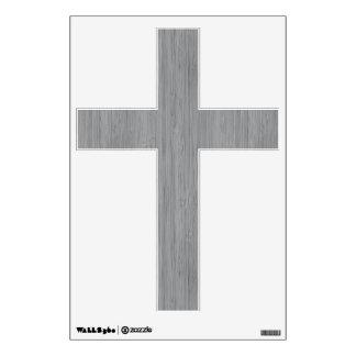 Ash Gray Bamboo Wood Grain Look Wall Sticker