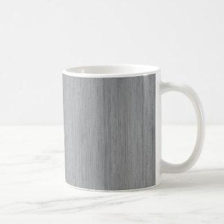 Ash Gray Bamboo Wood Look Classic White Coffee Mug
