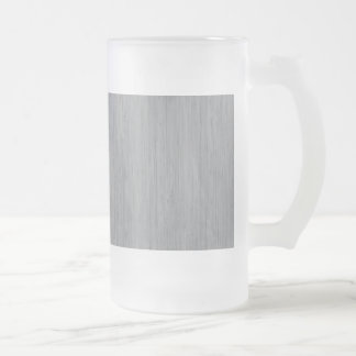 Ash Gray Bamboo Wood Look 16 Oz Frosted Glass Beer Mug