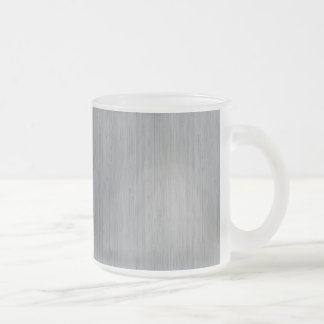 Ash Gray Bamboo Wood Look 10 Oz Frosted Glass Coffee Mug