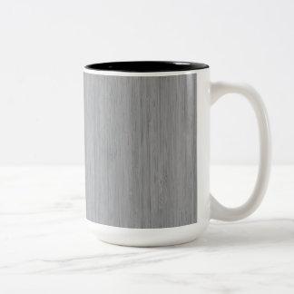 Ash Gray Bamboo Wood Look Two-Tone Coffee Mug