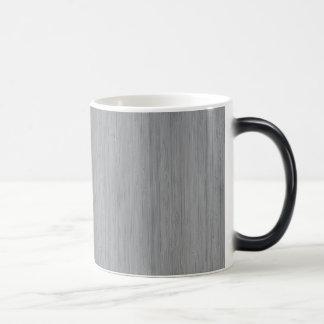 Ash Gray Bamboo Wood Look 11 Oz Magic Heat Color-Changing Coffee Mug
