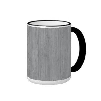 Ash Gray Bamboo Wood Look Ringer Coffee Mug