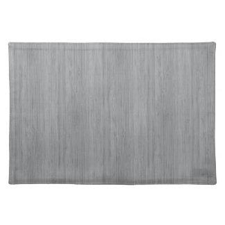 Ash Gray Bamboo Wood Look Cloth Placemat