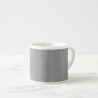 Ash Gray Bamboo Wood Look 6 Oz Ceramic Espresso Cup