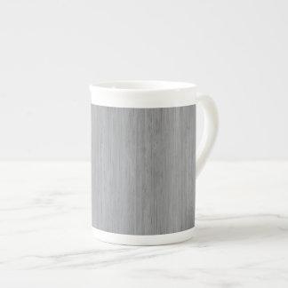 Ash Gray Bamboo Wood Look Tea Cup