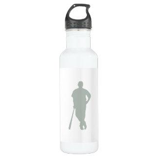 Ash Gray Baseball Stainless Steel Water Bottle