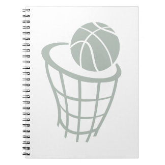 Ash Gray Basketball Spiral Notebook