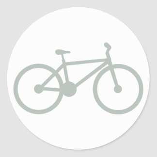 Ash Gray Bicycle Classic Round Sticker