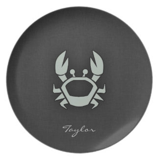 Ash Gray Crab Plate