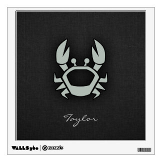 Ash Gray Crab Wall Sticker