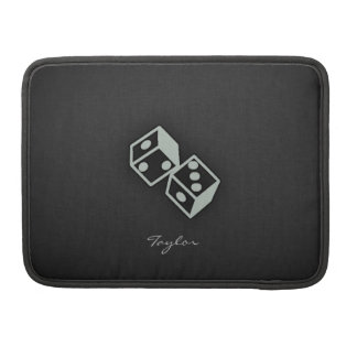 Ash Gray Dice MacBook Pro Sleeve
