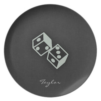 Ash Gray Dice Plates