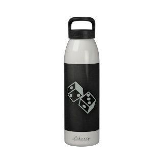 Ash Gray Dice Water Bottle