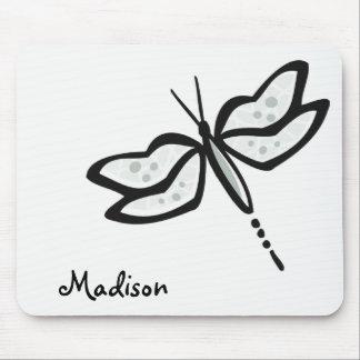 Ash Gray Dragonfly Mousepad