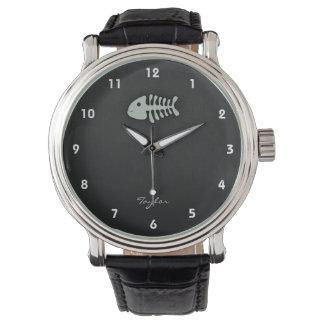 Ash Gray Fish Bones Wrist Watch