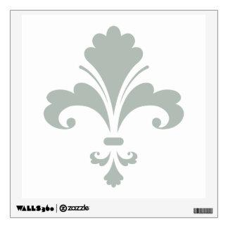 Ash Gray Fleur de lis Wall Stickers