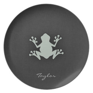 Ash Gray Frog Party Plates