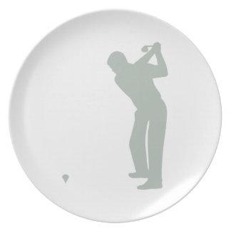 Ash Gray Golf Plates